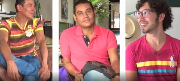 哥倫比亞3名男同志曼努(Manuel,左)、亞歷山卓(Alejandro,中)、維克多(Victor,右),獲官方承認他們的3人行伴侶關係。(圖擷自《BBC》)