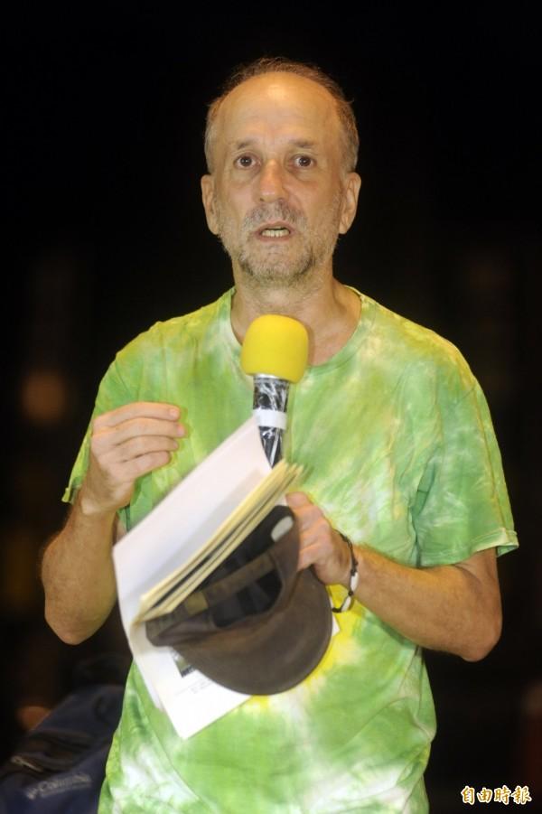 文魯彬長期關注台灣環境議題,宣布將爭取綠黨提名,參選北投、士林區立委。(資料照,記者趙世勳攝)