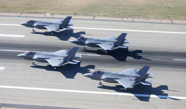 專家認為,台灣可能不會獲得F-35戰機,原因在於美國官員擔心若台灣買了F-35戰機後,中國間諜會從中竊取機密。(法新社)