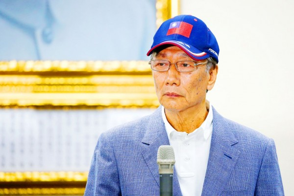 Hon Hai Precision Industry Co chairman Terry Gou is pictured at a news conference in Taipei on Wednesday. Photo: Reuters