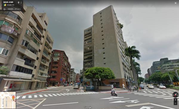 議員李新驚傳在北市安和路某棟大樓墜樓身亡。(圖取自Google)