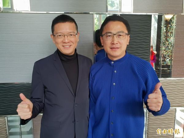 國民黨前立委孫大千(左)在臉書發文指,失敗並不可恥、落選也不丟臉,誰沒經歷過?但他也批評,換了新人卻做舊事,那就神仙難救了。(資料照)