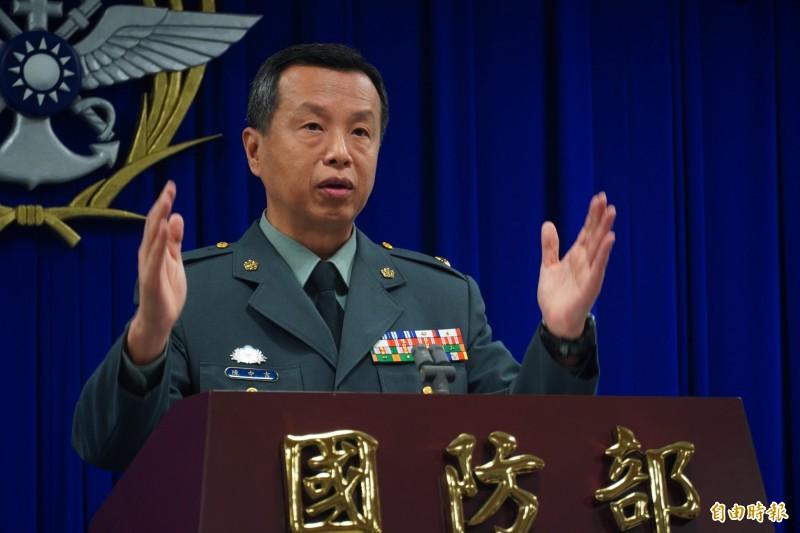 面對即將到來的同婚合法化,國防部發言人陳中吉表示將依法行政,同婚袍澤一樣可以參與陸海空軍集團婚禮。(資料照)