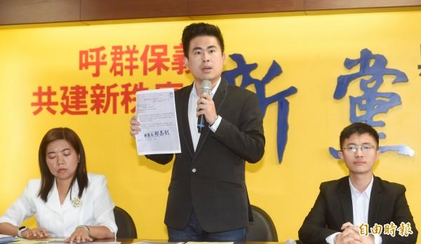 遭限制出境不能參加海峽論壇,新黨青年軍表不滿。(資料照)