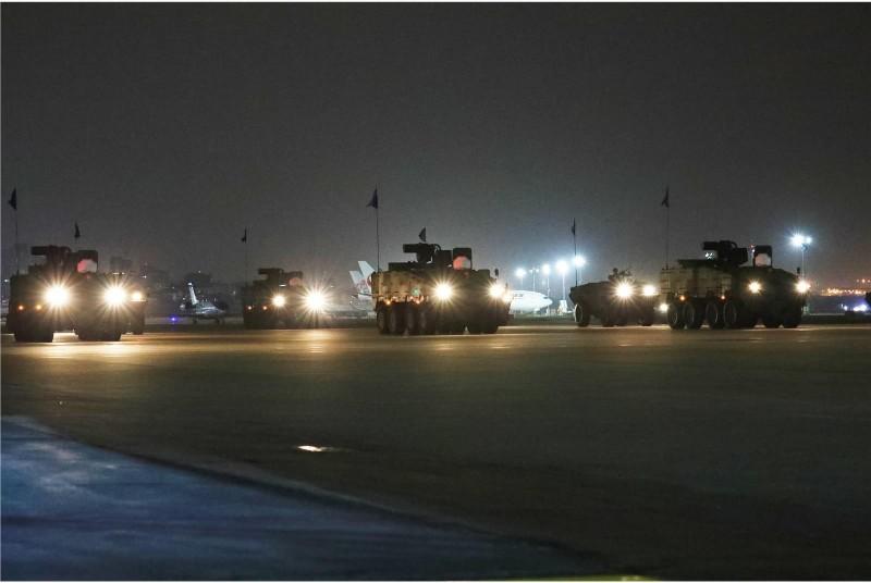 21日憲兵202指揮部編組台北憲兵隊、裝步第239營、砲兵第228營、332營及憲兵8中隊等單位參與任務訓練。(圖擷取自青年日報)