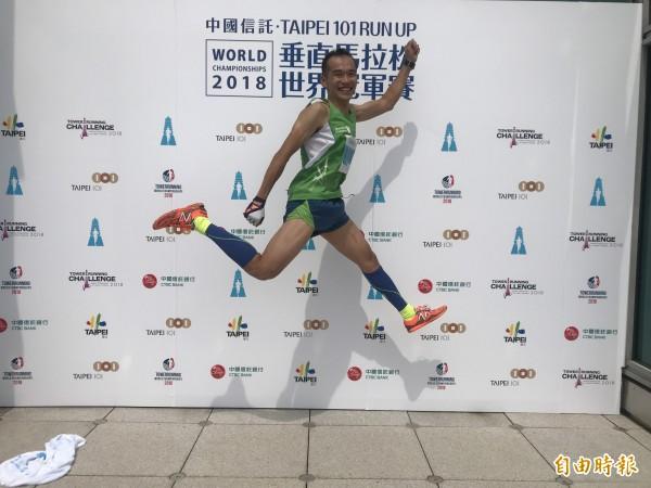 台灣選手郭俊谷對於本次參賽表現覺得很滿意。(記者簡亭宇攝)