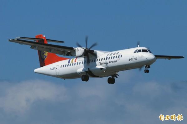 與失事航班同型的ATR-72型客機。(資料照,記者游太郎攝)