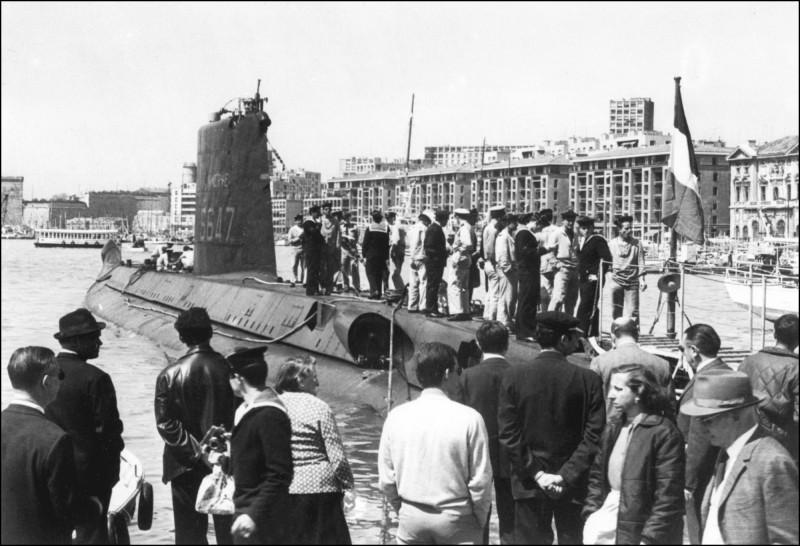 失蹤長達半世紀的潛艇「智慧女神號」(La Minerve),已在法國土倫(Toulon)附近的地中海海底被尋獲。(法新社)