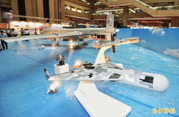 「台北國際航太暨國防工業展」中,國防部參展的反輻射無人載具系統。(資料照)