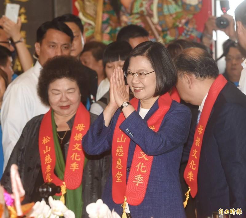 總統蔡英文表示,郭董到白宮是為了確認他在威州的案子,她對於台灣企業到美國布局都採取支持的態度。(記者方賓照攝)