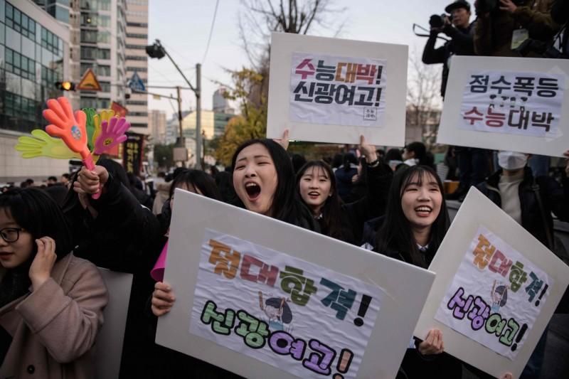 韓國18至30歲失蹤女性的數量暴增,在2008年還只有28人,但到了2018年竟達到294人。韓國女性示意圖。(法新社)
