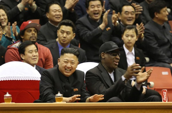 2013年羅德曼訪問北韓。(法新社資料照)