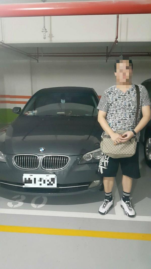涉嫌詐騙女網友為他貸款買車的蕭男。(記者劉慶侯翻攝)