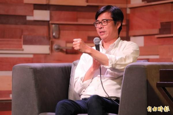 民進黨高雄市長候選人陳其邁(見圖)的前助理撰文描述她的「前老闆」,引發廣大回響。(記者葛祐豪攝)