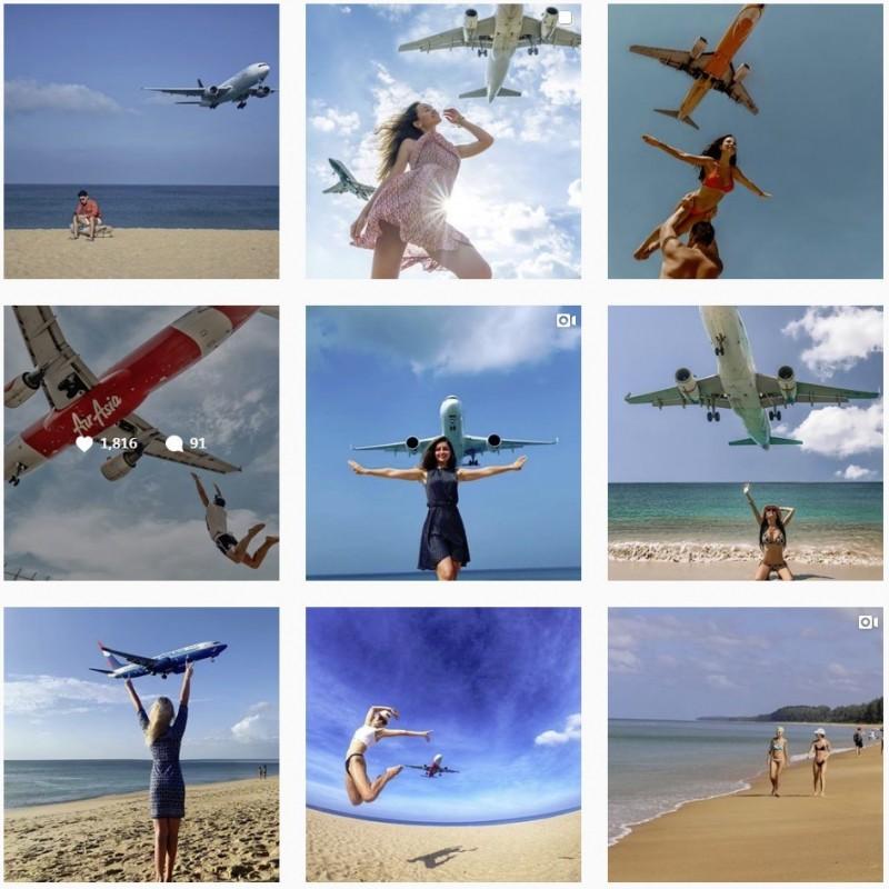 邁考海灘是著名的拍照景點,在IG上不時可以看到眾多網美的美照。(圖擷自IG)