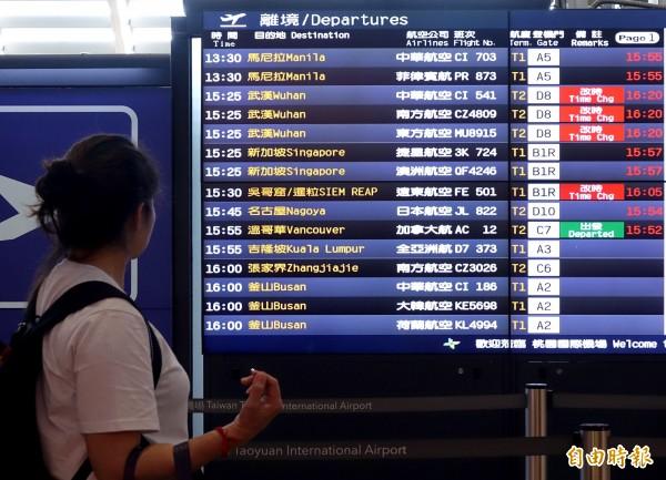 航空業諮詢機構「OAG」最近就整理出全球各航線的飛行次數,香港-台北的航線則排名第二。(資料照)