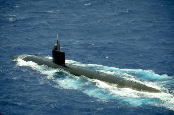 郭文貴10日聲稱,美國海軍核子動力潛艇在台灣周圍海域出沒已經「常態化」。圖為美國洛杉磯級核動力攻擊潛艦「夏延號」(USS Cheyenne,SSN-773)。(法新社)
