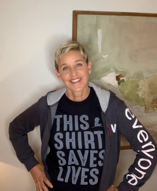 美國知名脫口秀「艾倫秀(Ellen Show)」主持人艾倫(Ellen DeGeneres)。(擷取自Ellen DeGeneres臉書)