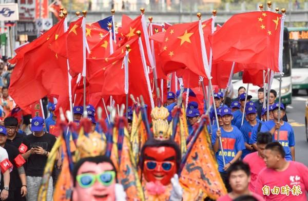 有民眾提案,要求增設刑法條文禁止中國五星旗在台灣公開懸掛、展示、陳列出現。(資料照,記者羅沛德攝)