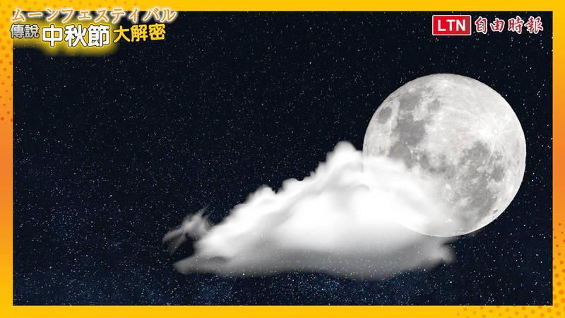 中秋月亮又大又圓,賞月是中秋節的習俗。(影音製圖)