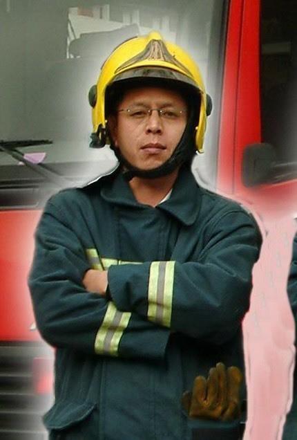 小隊長馮永昌(圖)送高雄長庚醫院前無生命跡象,後宣告不治。(讀者提供)