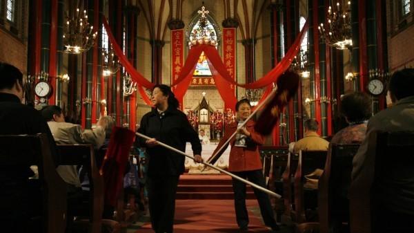 中國當局持續打壓基督教會。(路透資料照)