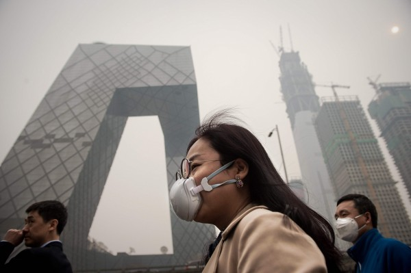 北京一直給人空氣品質不佳的印象。(資料照,法新社)