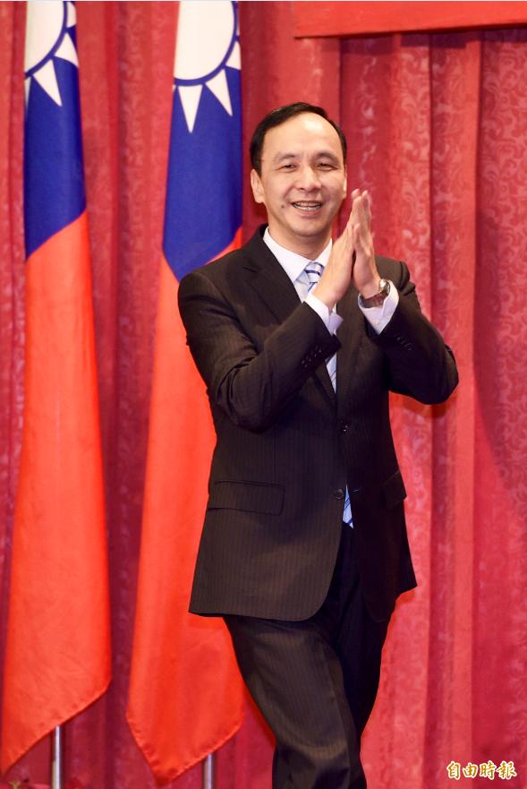 前新北市長朱立倫13日出席中華民國青溪總會會員代表大會。(記者羅沛德攝)