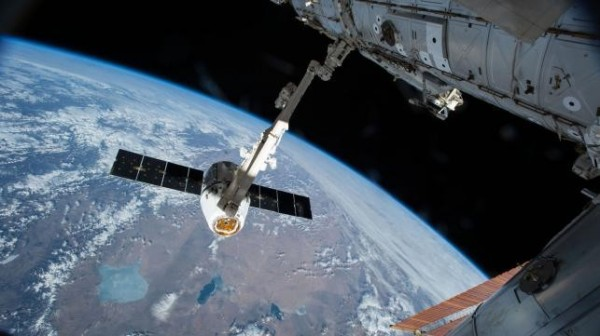 JAXA指出,新繞月基地約為70噸重,是國際太空站(ISS)的6分之一,可以容納4名太空人。(資料圖 法新社)