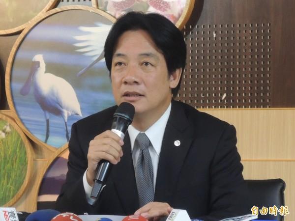 台南市長賴清德因不赴市議會備詢,昨遭監察院彈劾。(資料照,記者洪瑞琴攝)