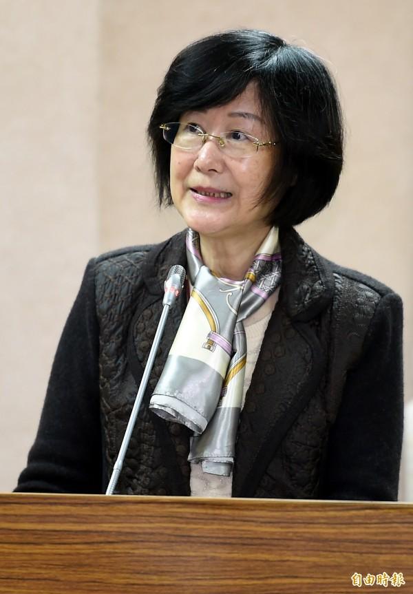 法務部長羅瑩雪今赴立院法制委員會報告並備質詢。(記者朱沛雄攝)