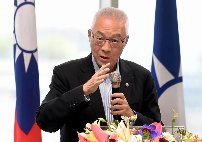 國民黨主席吳敦義(圖)邀郭台銘本週見面,郭辦表示,沒時間。(資料照)