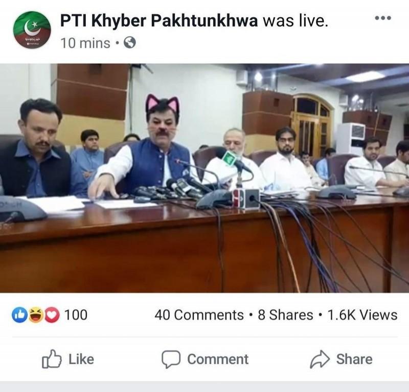 巴基斯坦地方政府先前直播也曾出糗。(圖擷自twitter)