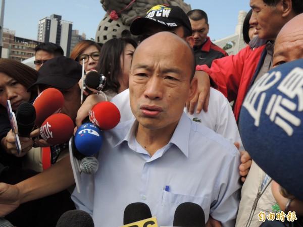 韓國瑜拋出要在已關廠的中油高雄煉油廠蓋賽馬場,引發議論。(資料照)