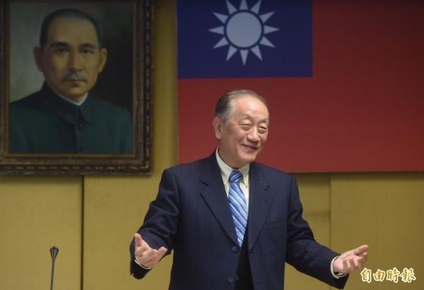 新黨黨主席郁慕明。(資料照)