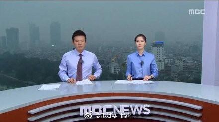 南韓多家媒體前往越南河內播報「川金會」。(圖擷取自微博_瓜姐每日爆料)