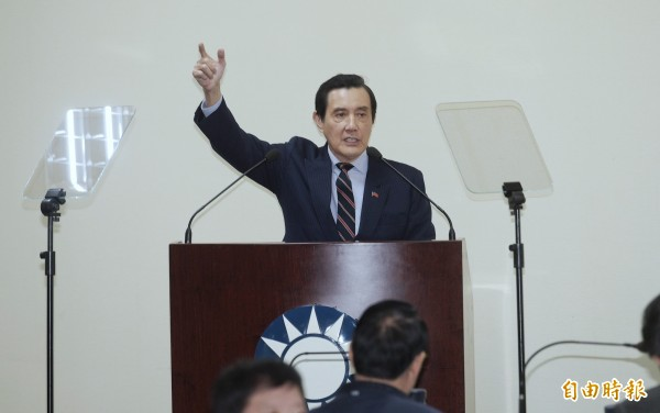 馬英九(見圖)將領銜推動「反妨害司法公正公投」,黃國昌痛批「沒資格」。(資料照)