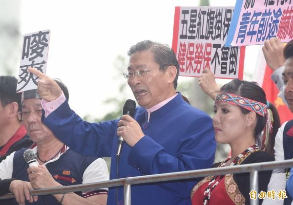 張安樂指控,昨日是「台獨機關槍」李柏璋先辱罵且動手打人,統促黨成員才會反擊。(資料照,記者廖振輝攝)