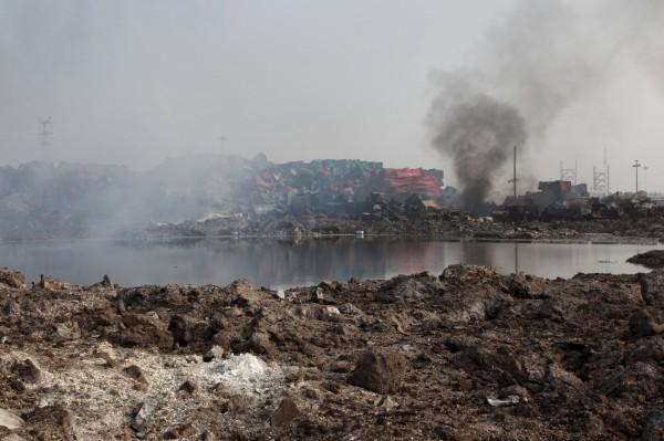 中國天津濱海新區爆炸事件,造成當地重大傷亡。(美聯社)