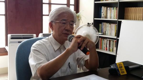 蔡仁堅堅持參選新竹市長,今日民進黨中評會以「違紀參選」為由開除其黨籍。(資料照,記者蔡彰盛攝)