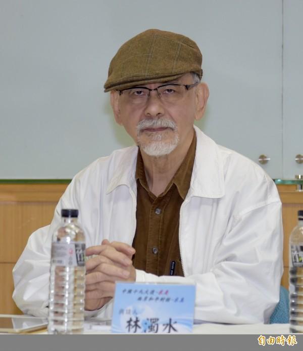 針對蔡英文表示柯文哲必須對台灣價值再次確認,林濁水建議蔡英文不妨說說她的台灣價值。(資料照,記者黃耀徵攝)