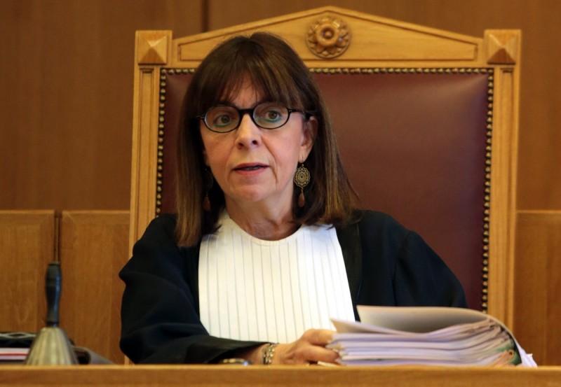 希臘法官薩克拉洛普魯(見圖),今天可望開創先例,成為希臘第一位女總統。(資料照,歐新社)