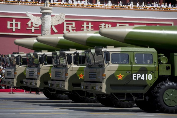 中國東風-26中程彈道飛彈具有打擊美國關島的能力。(美聯社)