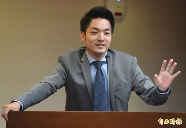 國民黨立委蔣萬安對總統蔡英文的留言表示,「非常不恰當」。(資料照,記者張嘉明攝)