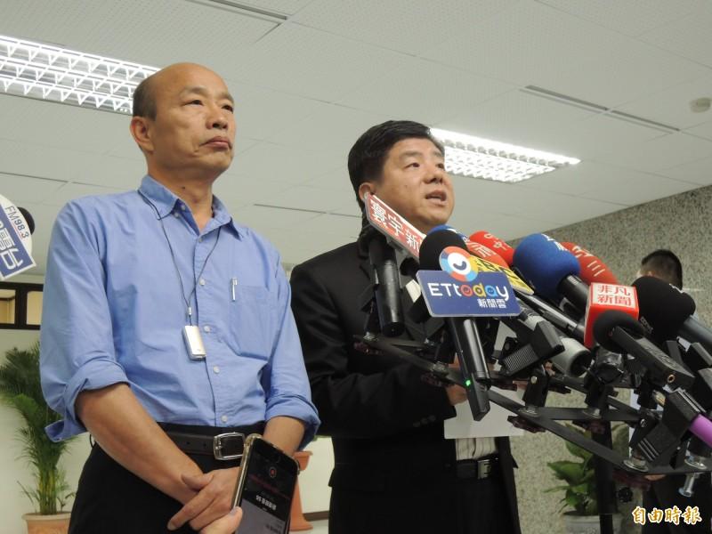 韓國瑜舉郭台銘用前妻名成立永齡農場,相信郭董對高雄有感情,結果又被打臉說錯了。(資料照)