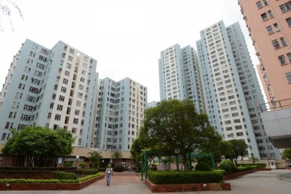 香港九龍灣德福花園一景。(香港《星島日報》)