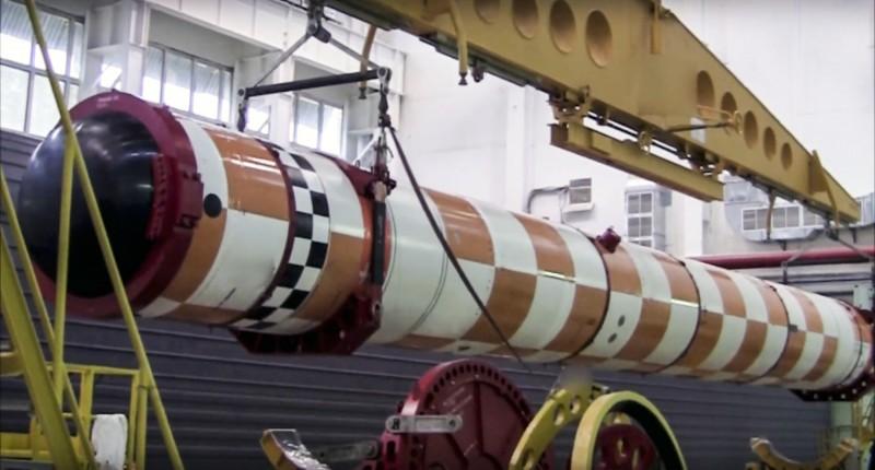 「波賽頓」核魚雷長達24公尺,直徑1.5公尺,內部有一個小型核反應爐作為動力,而魚雷本身也裝備核彈頭。(美聯社)