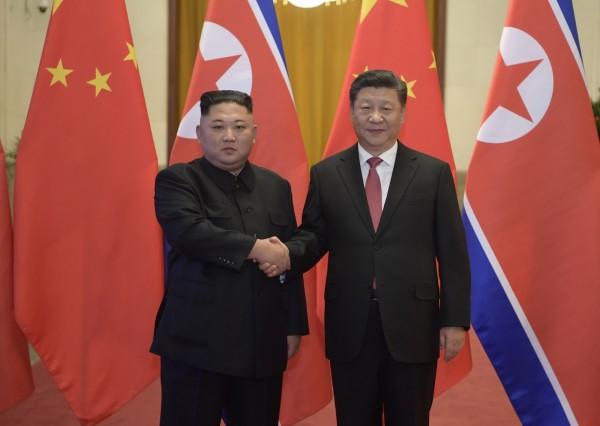 北韓領導人金正恩應中國國家主席習近平邀請,8日抵達北京訪問。(美聯社)