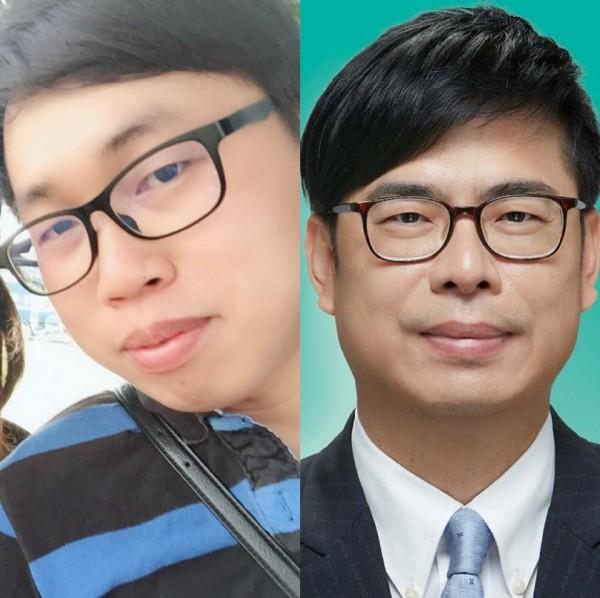 網友出賣老公露臉照,讓其他網友喊「根本就是陳其邁」。(圖擷取自臉書「爆怨公社」)