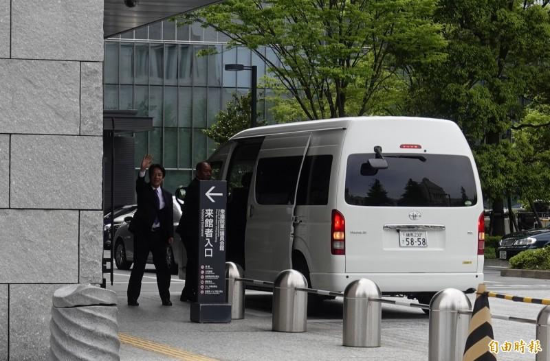 前行政院長賴清德下午進入日本眾議員第一會館與多名日本國會議員進行會談。(記者林翠儀攝)